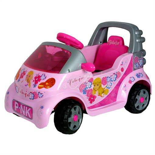 kids girls pink electric car convertible motor battery operated ride on toy ebay