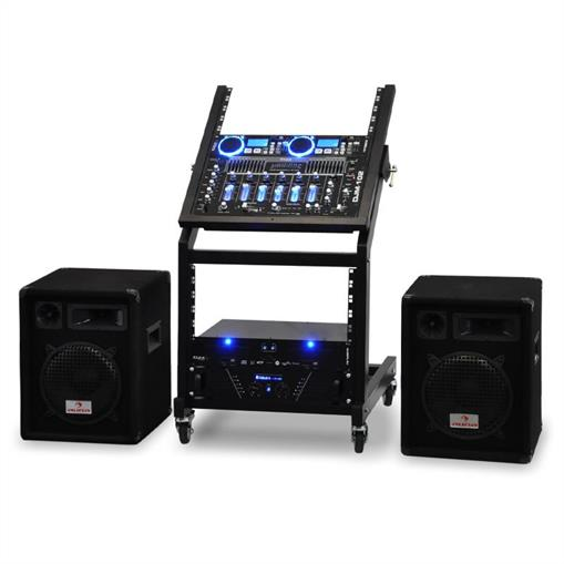 how to set up mixer amp and speakers