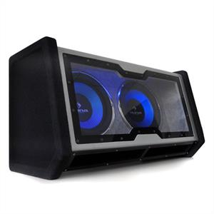 "Auna Dual In Car Hifi Subwoofer 2x12"" Bass + Light Effects"