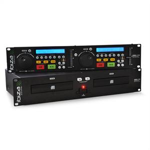 Ibiza     CDX-10 DJ Dual CD Player with Pitch Cue Rack Mount