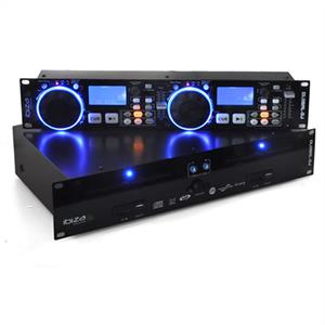 Ibiza Global DJ Dual CD MP3 Player Scratch SD USB