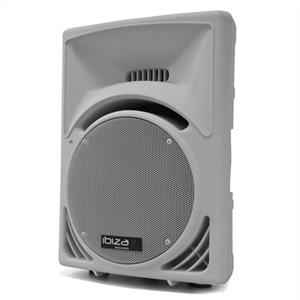 "Ibiza 300W Active DJ PA Speaker 12"" ABS Moulded Housing - White"