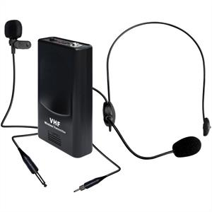 KAM 4745 Wireless Lavalier Headset Microphone Set VHF 175MHz