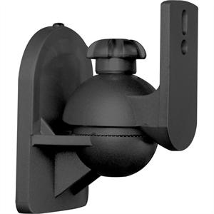 Pair Hi-Fi Satellite Speaker wall mount brackets 3.5 kg load - Black