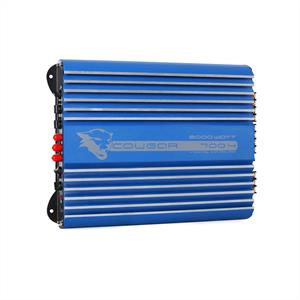 Cougar 4-Channel Car Amplifier 2000W Bass Boost - Silver Blue