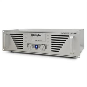 "Skytec PRO-1000 Watt DJ PA Amplifier 19"" Rack Mountable - Silver"