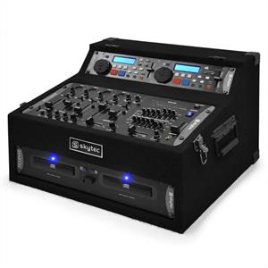 DJ PA System with Dual CD Player 4 Channel Mixer & Rack Case