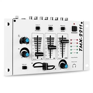 Auna TMX-2211 3/2 Channel Basic DJ Mixer - White