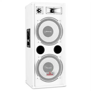 "Auna PW-2222 3-Way DJ PA Speaker 2 x 12"" 1000W - White"