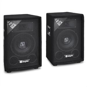 "Pair of Skytec SL6 Passive PA DJ Speakers 6"" 2 x 150W"