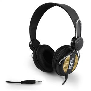 Koolsound HD-750 Stereo Hifi DJ Headphones - Black/Gold