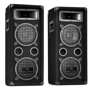 Auna PW-08X22 3-Way DJ PA Speakers 1600W