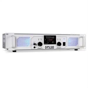 Skytec SPL500 Watt PA Amplifier DJ USB SD MP3 - White