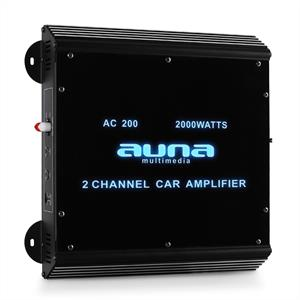 Auna W2-AC200 2-Channel Car Amplifier with LED Lights 2000W