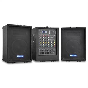 Skytec PA-100 Portable PA System 4-Channel Mixer USB-MP3