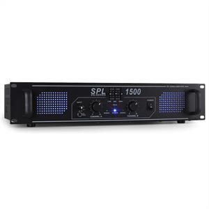 Skytec SPL1500 Watt DJ PA Amplifier EQ Hi-Fi Audio Amp