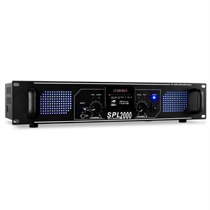 Skytec SPL-2000-MP3 HiFi PA Amplifier LED Light 2000W USB SD