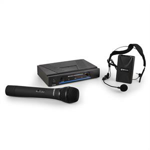 QTX 171.810 Wireless Microphone Set with 2 Cordless Mics