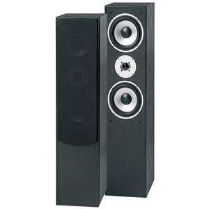Pair Skytronic SHFT60B Home Hifi Tower Speakers 3-Way Bass Reflex 350W - Black