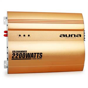 Auna Goldhammer 2-Channel Car Amplifier 2200W