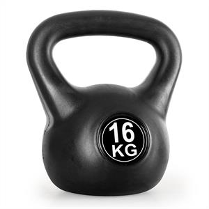 Klarfit Kettlebell 16kg Training & Fitness Weight - Black