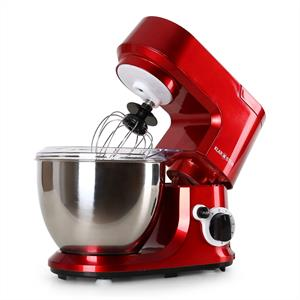 Klarstein Carina Rossa Food Processor Mixer 800W 4 Litre Red