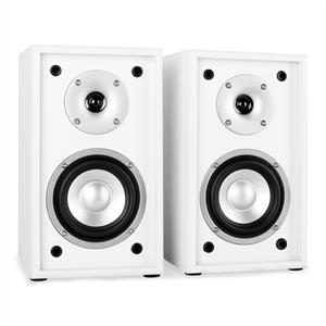 Auna Line 300-SF-WH 2-Way Passive Bookshelf Speakers Pair White