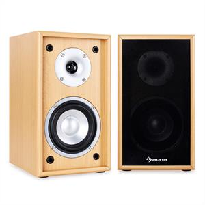 Auna Line 300-SF-BH 2-Way Passive Bookshelf Speakers Pair 150W Beech