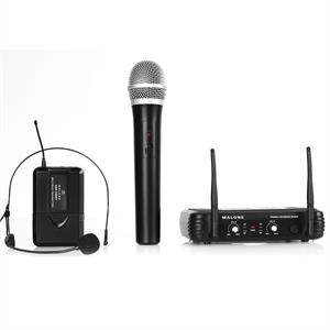 Malone UHF 250 Duo 2-Channel Wireless Microphone Set
