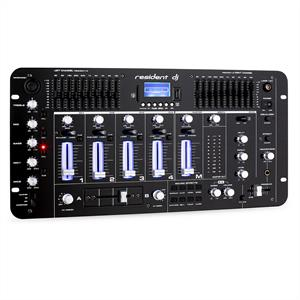 Resident DJ Kemistry 3 DJ Mixer 4-channel USB SD Black