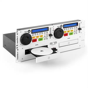 Resident DJ JY-2CD Double CD Player Cue Pitch Rack White