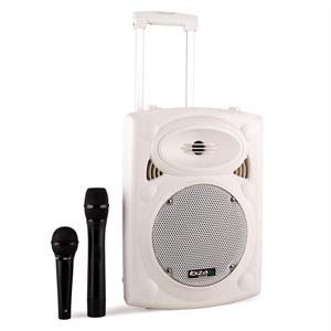 Ibiza Port8VHF-BT Portable PA Speaker Bluetooth USB SD 400W White