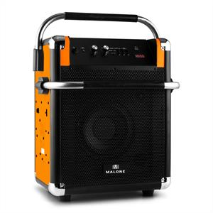 Malone Rock Fortress PA-System USB Bluetooth FM Radio AUX 50W Max. Orange
