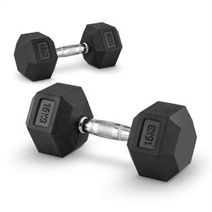 Capital Sports Hexbell 15 Dumbbell 15 kg