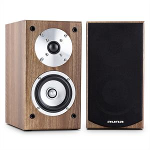 Auna Line 501 BS-WN Passive Bookshelf Speaker Pair 100W Walnut