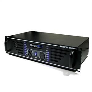 "Skytec PRO-1500 Watt DJ PA Amplifier 19"" Rack Mountable - Black"