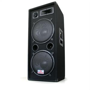 "Auna PW-2222 3 Way Speaker 2 x 12"" 1000W"