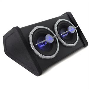 "Auna 2X10"" Double Subwoofer with LED Light Effect 1600 watts"