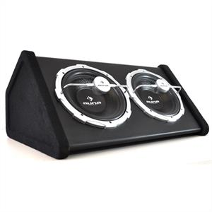 "Auna 2X12"" Double Subwoofer with LED Light Effect 2000 watts"