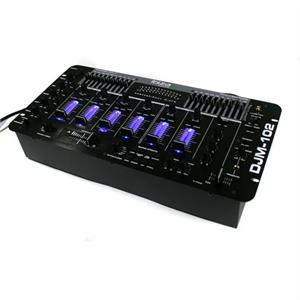 Ibiza  DJM-102 Pro 4 channel mixer 10 band EQ battle effects LED lights