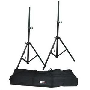 Pair Skytec Tripod PA Speaker Stands with bag 25kg load