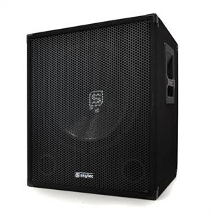 "Skytec 15"" 38cm Active PA Subwoofer 600W Bass Speaker"