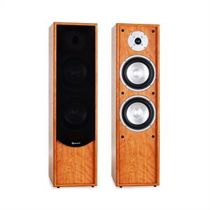 Auna Line 300-WN 2-Way Passive Hi-Fi Tower Speaker Pair 160W RMS Walnut