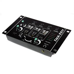 Auna TMX-2211 2/3 Channel DJ Mixer with Microphone Input