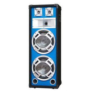"Skytec 600W DJ PA Blue LED Dual 8"" Passive Speaker"